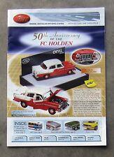 TRAX CATALOGUE 2008 Brochure 1/43 DieCast FC HOLDEN FALCON COMMODORE VALIANT E38