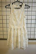 AQUA White Floral Cotton Blend Fancy Dress Size Xsmall On Sale