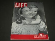 1944 MAY 22 LIFE MAGAZINE - MODEL MOTHER AND SON COVER - L 392