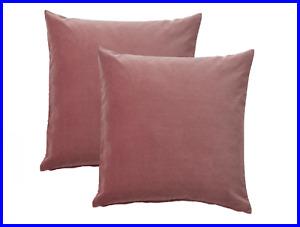 100% Lush Cotton Velvet- Pillow Case Cushion Covers 50cm x 50cm with Zip -2pcs