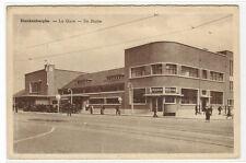La Gare De Statie Railway Station Blankenberghe Belgium postcard