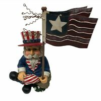 Uncle Sam Figurine USA 4th of July Veteran Memorial Day Centerpiece Patriotic