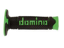 Domino Suave Mano Diamante Motocross Enduro Grips-Negro Y Verde