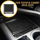 4x Carbon Fiber Center Console Storage Box Cover Trim For Toyota Camry 2018-2021