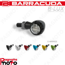 COPPIA FRECCE MOTO UNIVERSALE INDICATORI OMOLOGA. LED BARRACUDA S-LED B-LUX NERO