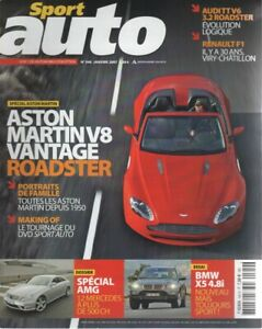 SPORT AUTO 540 ASTON MARTIN V8 VANTAGE ROADSTER BMW X5 4.8i GAMME AMG AUDI TT RO