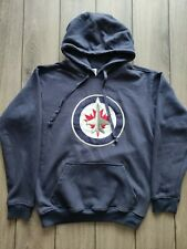 New listing Men's Winnipeg Jets NHL HockeyNavy Blue Cotton Blend Pullover Hoody Size S