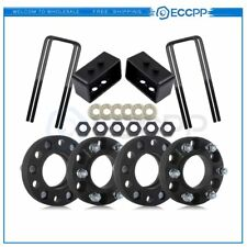 "4Pc 1.25"" Thick 6x135 wheel spacers 3"" Rear Leveling Lift Kit Ford F150"