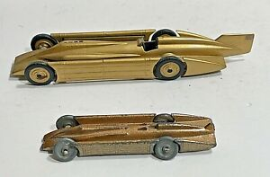 "TWO ENGLISH MODELS OF THE "" GOLDEN ARROW"" RACE CAR"