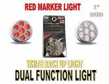"Trux Dual Function (7 LED) 2"" Round Red Marker Lamp & White Back up Light (KIT)"