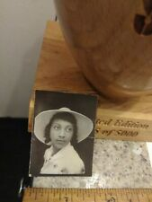 Beautiful African american female photobooth photo with amazing hat on