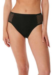 NEW Freya Urban High Waist/Leg Bikini Briefs ONLY Medium 12 Black