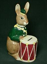 Vintage Royal Doulton Brown Rabbit With Drum Bone China Bank 1967