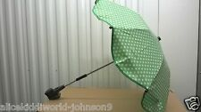 New Hauck official dots GREEN ladybird Parasol Umbrella for pushchair pram buggy