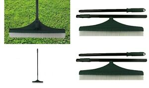 New Artificial Grass Rake Brush for Astro Turf Grass with adjustable Handle UK