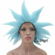Rick and Morty Dr Rick Sanchez Cosplay Wig Blue Halloween Party Costume Hair