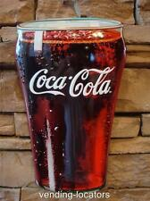 COCA COLA Bottle Embossed Metal Sign Soda Jerk COKE Cooler Advertising Button