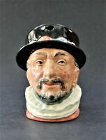 "VINTAGE ROYAL DOULTON TOBY JUG. SMALL BEEFEATER 3 ¼"" TALL. D6233. FREE SHIPPING"