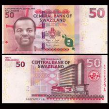 Swaziland 50 Emalangeni, 2010, P-38, AA prefix, UNC