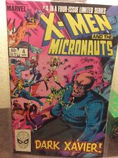 X-Men and the Micronauts 1-4 Limited Series Complete Marvel Comics Copper Age