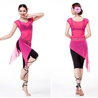 Professional lady belly dance sheer stretch net mesh costume Party dress UK