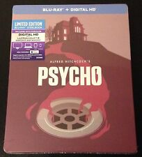 Alfred Hitchcock PSYCHO Blu-Ray SteelBook Anthony Perkins Horror UV & iTunes DC.