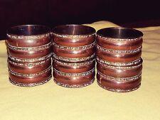 "Set of 6 Copper Brass Napkin Rings ""NICE"""