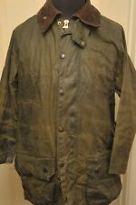 "VINTAGE 1990S BARBOUR A150 WAX COTTON BEAUFORT JACKET 42"" / 107CM GREEN"