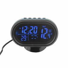 Black Screen Car Digital LCD Monitor Thermometer Voltage Alarm Clock 12V-24V bGA
