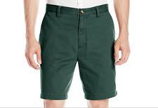 $55 Nautica Men's Cotton Twill Flat Front Chino Short, Green, Size 38x8.5.