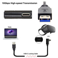 Für Oculus Link VR Datenkabel Typ C USB 3.1 Winkel kabel Date Cable Schwarz 3/5m