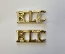 Royal Logistics Corps RLC  Shoulder Titles for No. 2 Dress (FAD) Pair