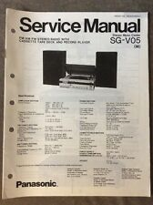 Panasonic Service Manual SG-V05 Radio, Cassette Deck & Record Player - Original