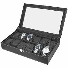 Watch Case | Watch Box | Watch Holder | Watch Organizer (Holds 12 Watches) - A&E