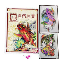 68 Pages A4 Size Koi Tattoo Art Design Flash Sketch Line Manuscript Book Supply