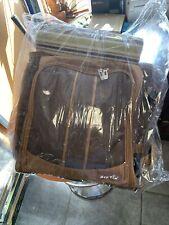 HapTim Multi-Function Large Baby Diaper Bag Backpack W/Stroller Straps Brown Tan