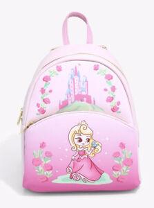 Loungefly Disney Sleeping Beauty Chibi Aurora Mini Backpack  New With Tags
