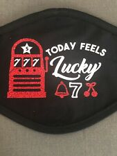 Casino Slots Feeling Lucky Cotton Face Mask Cover