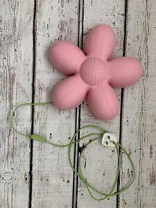 Ikea SMILA BLOMMA Pink Flower Night Light/ Wall Lamp For Kids.