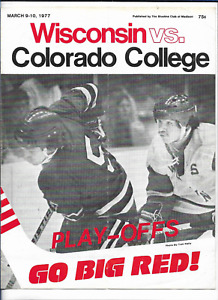 March 9-10 1977 WISCONSIN vs COLORADO College Hockey Program (JS)