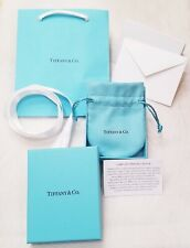 NEW Tiffany & Co Blue Gift Packaging Empty Jewelry Box Pouch Ribbon Bag Clasp