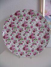 Speiseteller Dinner Platte VICTORIAN ROSE CHINTZ  Rosen  Rot - Pink dm.27cm