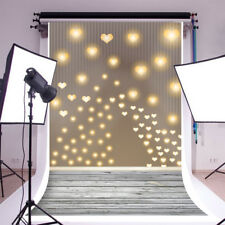 Love Hearts Light Shadow Photography Backdrops 5x7ft Vinyl Baby Photo Background