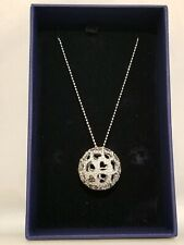 Swarovski Hemisphere Heart Pendant Rhodium-Plated Clear Crystal  #1126799 New