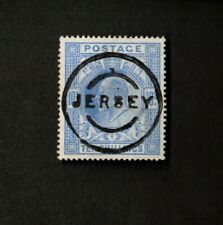 Great Britain Sc# 141 Stamp, Used in Jersey 10 Shilling, Superb