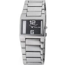 Police Vanity Black Dial Stainless Steel Bracelet Ladies Watch 12695LS-02M