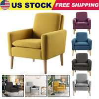 Modern Accent Fabric ArmChair Single Sofa Soft Upholstered Arm Chair Living Room