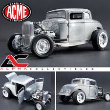 ACME A1805013 1:18 1932 FORD 5 WINDOW HOT ROD COUPE HAMMERED STEEL