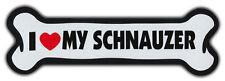 Giant Size! Dog Bone Magnet: I Love My Schnauzer | Cars, Trucks, Refrigerators