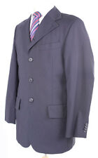 HUGO BY HUGO BOSS RED LABEL NAVY WOOL BLEND MEN'S SUIT JACKET 40R DRY-CLEANED